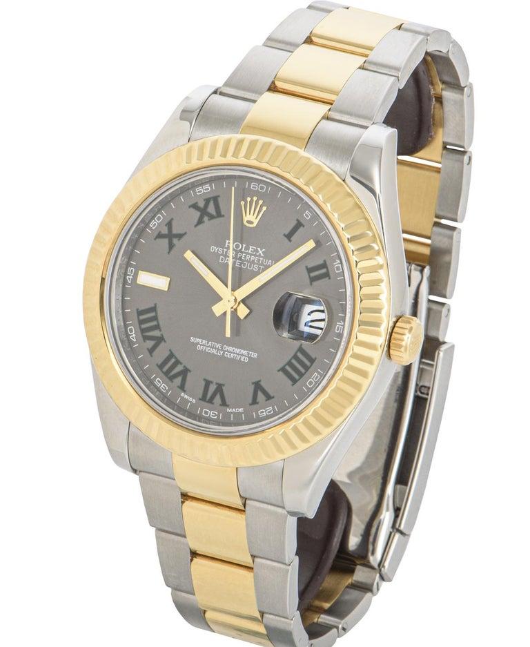 Rolex Datejust II Steel and Gold Wimbledon Dial 116333 Watch 3