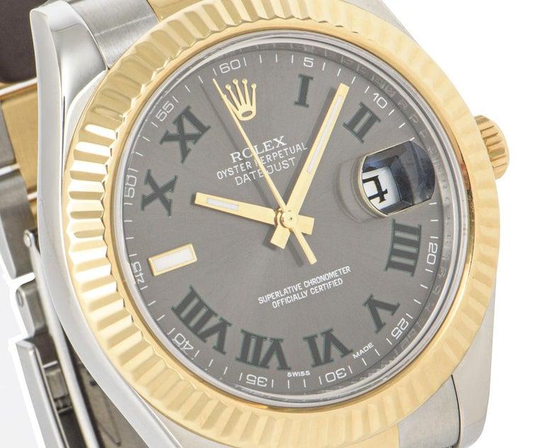 Rolex Datejust II Steel and Gold Wimbledon Dial 116333 Watch 4