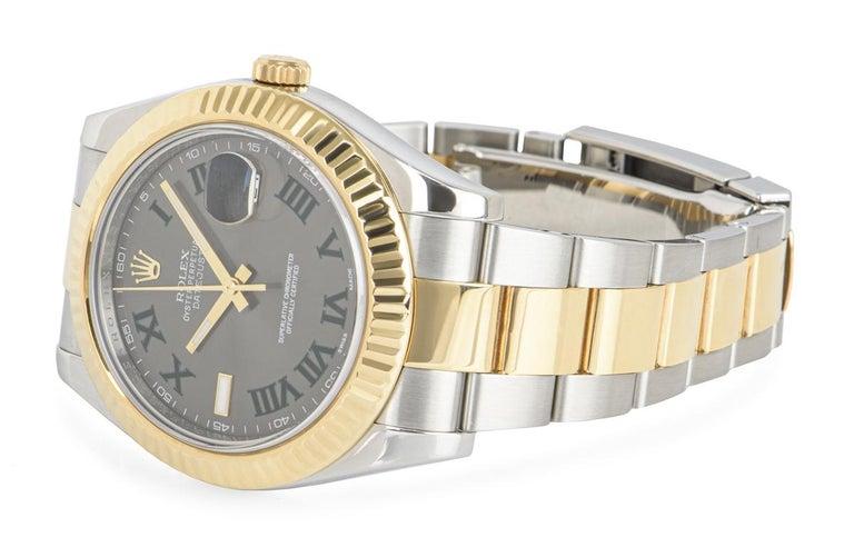 Rolex Datejust II Steel and Gold Wimbledon Dial 116333 Watch 5