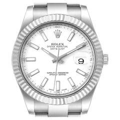 Rolex Datejust II Steel White Gold Mens Watch 116334