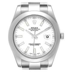 Rolex Datejust II White Dial Steel Men's Watch 116300 Box Card