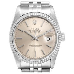 Rolex Datejust Jubilee Bracelet Steel White Gold Men's Watch 16234