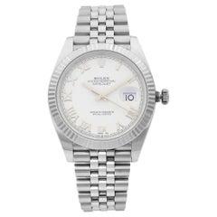 Rolex Datejust Jubilee Steel White Roman Dial Automatic Men's Watch 126334