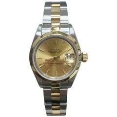 Rolex Datejust Ladies 69163 18 Karat Yellow Gold and Stainless Steel