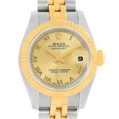 Rolex Datejust Ladies Steel Yellow Gold Jubilee Bracelet Watch 179173