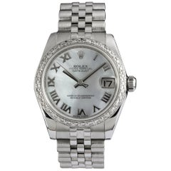 Rolex Datejust Lady Ref 178274 with Mother of Pearl Dial and Diamond Bezel
