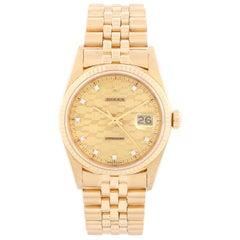 Rolex Datejust Men's 18 Karat Chevrolet Diamond Jubilee Watch
