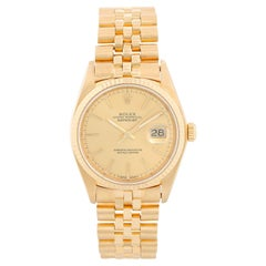 Rolex Datejust Men's 18 Karat Watch 16018