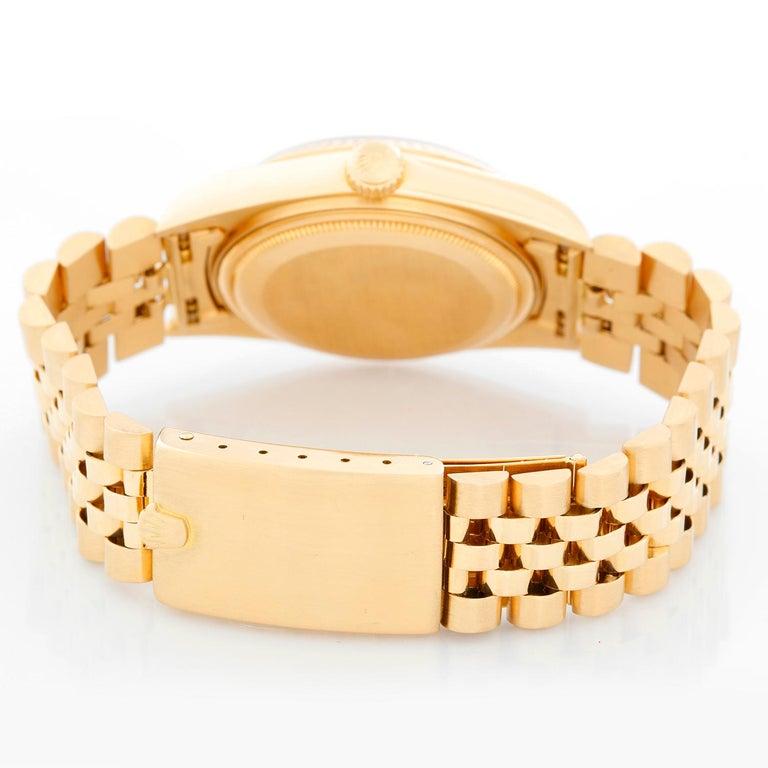 Rolex Datejust Men's 18 Karat Watch 16018 In Excellent Condition For Sale In Dallas, TX
