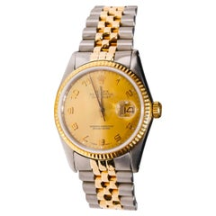 Rolex Datejust Men's 2-Tone Gold Steel Champaign Numeric Automatic Dial Watch