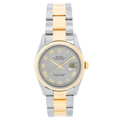 Rolex Datejust Men's 2-Tone Steel and Gold Watch 16203