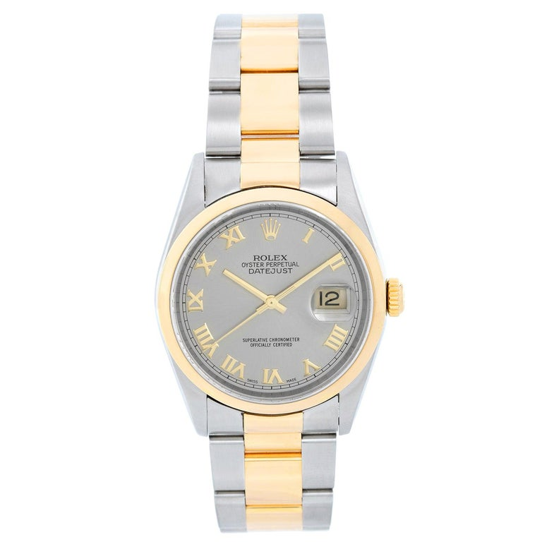 Rolex Datejust Men's 2-Tone Steel and Gold Watch 16203 For Sale