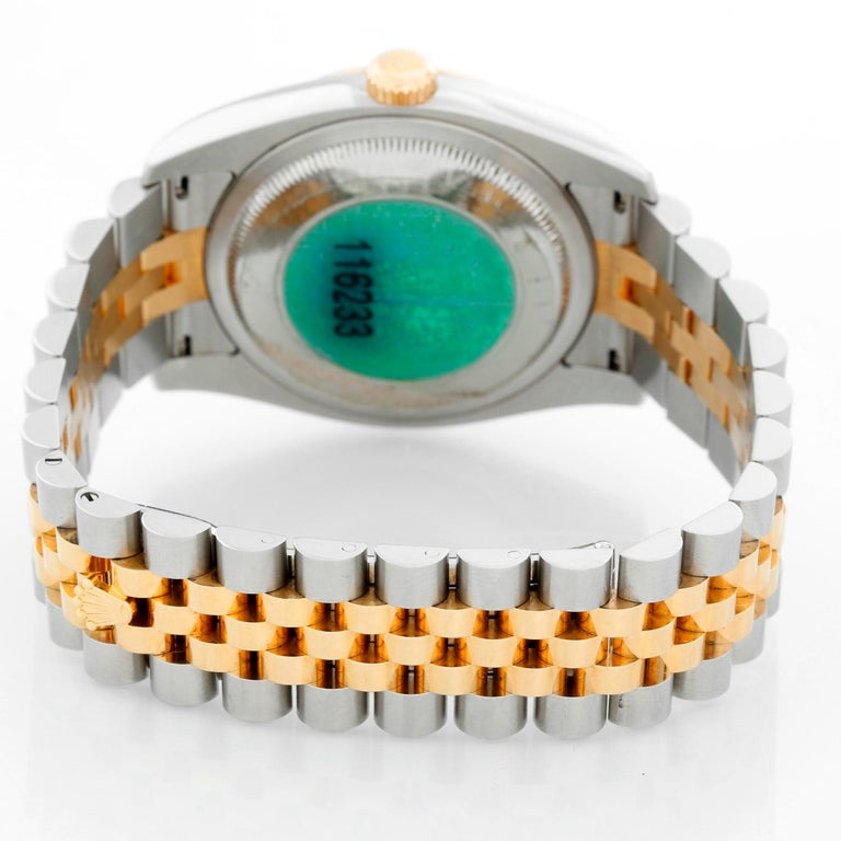 Rolex Datejust Men's 2-Tone Watch 116233 In Excellent Condition For Sale In Dallas, TX