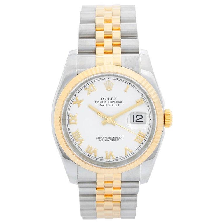 Rolex Datejust Men's 2-Tone Watch 116233 For Sale