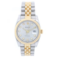 Rolex Yellow Gold Stainless Steel Datejust Automatic Wristwatch Ref 116233