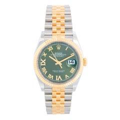 Rolex Datejust Men's 2-Tone Watch 126233 Olive Dial