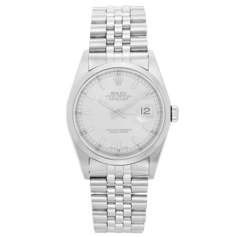 Rolex Datejust Men's Stainless Steel Automatic Winding Watch 116200 For Sale