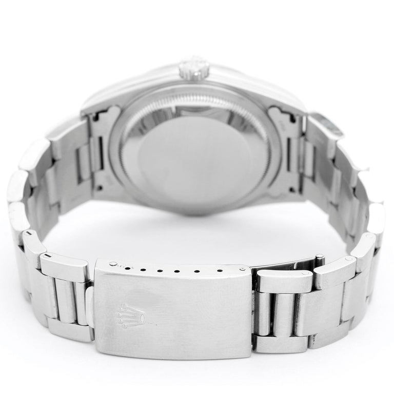 Women's Rolex Datejust Men's Stainless Steel Automatic Winding Watch 16200 For Sale