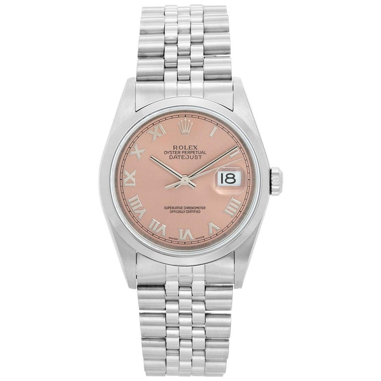 Rolex Datejust Men's Stainless Steel Automatic Winding Watch 16200 For Sale