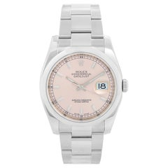 Rolex Datejust Men's Stainless Steel Pink Dial Watch 116200