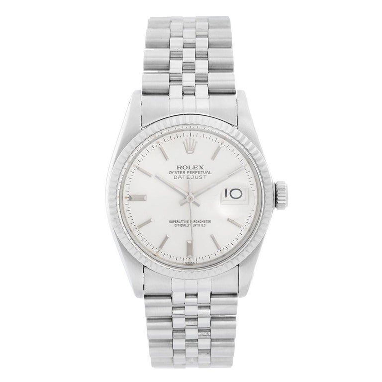 Rolex Datejust Men's Stainless Steel Watch 16014 For Sale