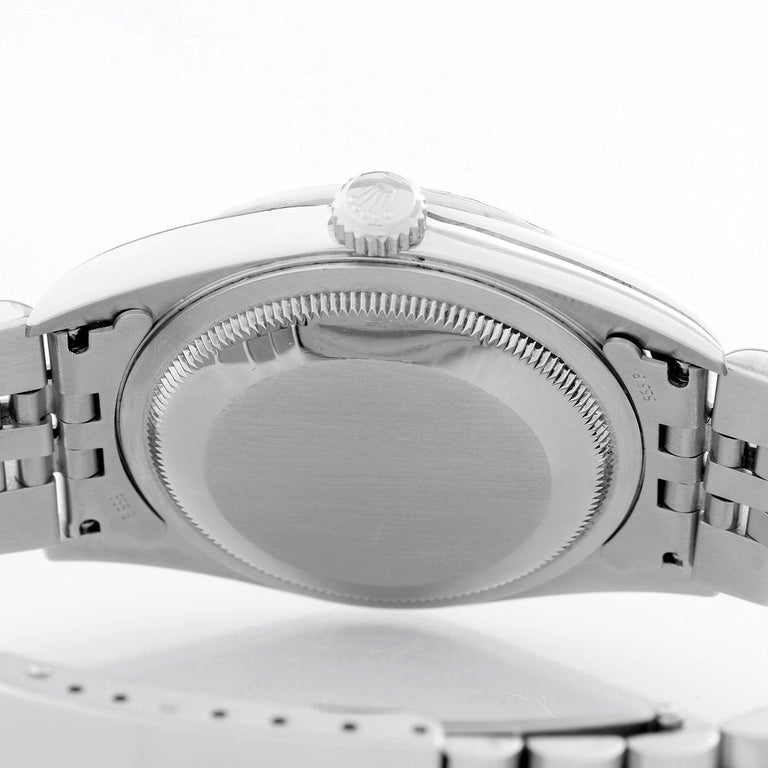 Women's or Men's Rolex Datejust Men's Stainless Steel Watch 16220 For Sale