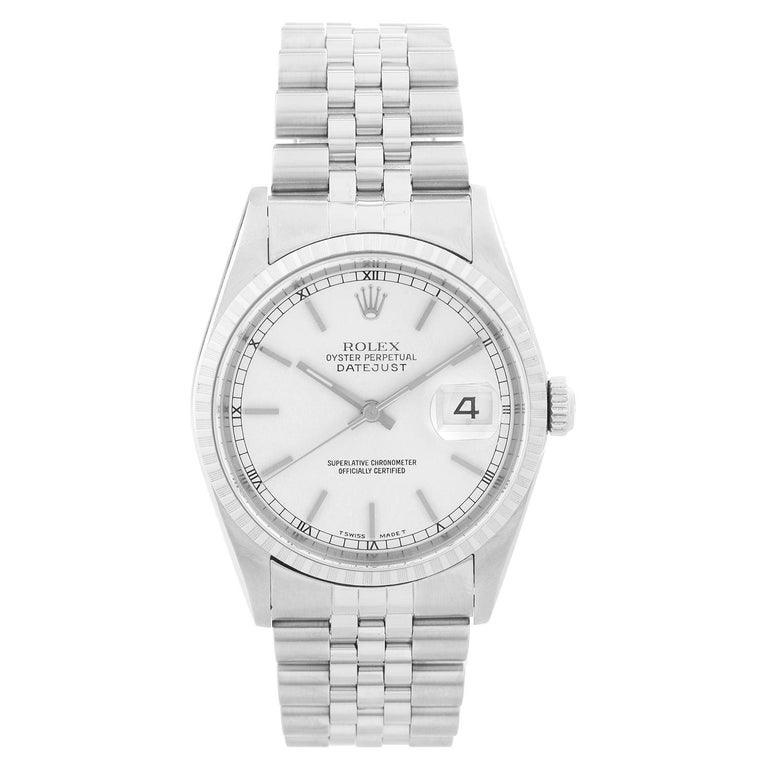 Rolex Datejust Men's Stainless Steel Watch 16220 For Sale