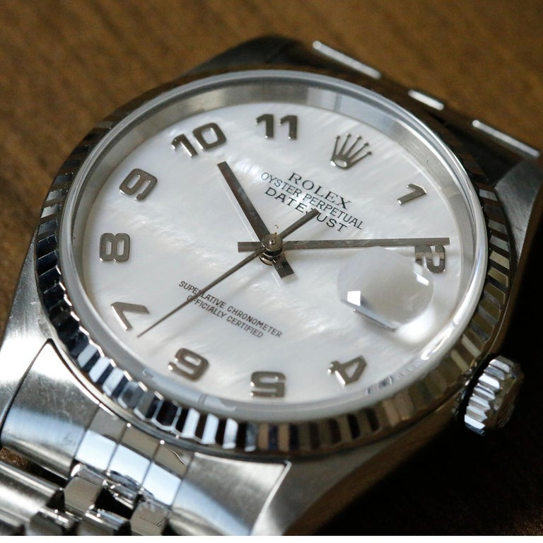 Rolex Datejust Men's Stainless Steel Watch 16234 For Sale 2