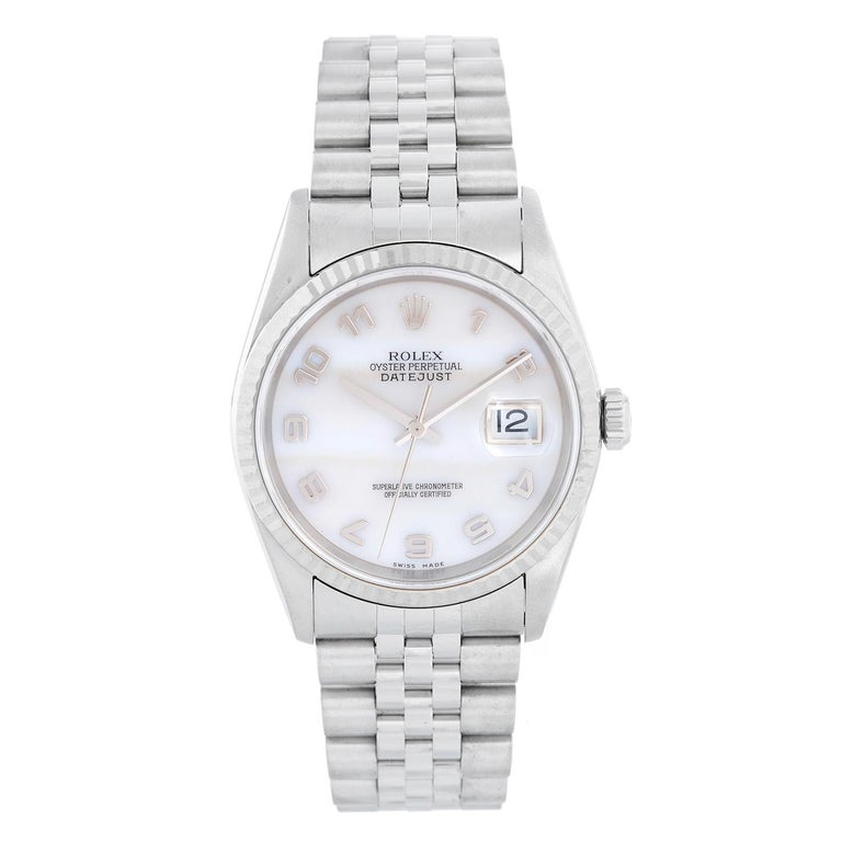 Rolex Datejust Men's Stainless Steel Watch 16234 For Sale