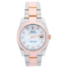 Rolex Datejust Men's Steel and Rose Gold Watch 116201