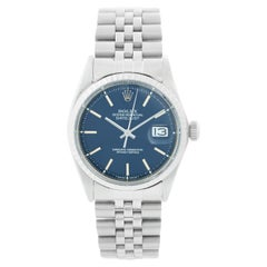 Rolex Datejust Men's Steel Automatic Winding Rare Blue Dial Watch 1603