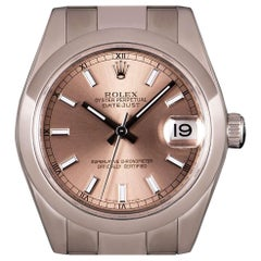 Rolex Datejust Mid-Size Stainless Steel Pink Dial 178240 Automatic