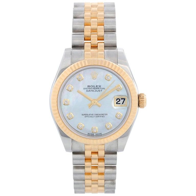 Rolex Datejust Midsize 2-Tone Watch 178273 For Sale