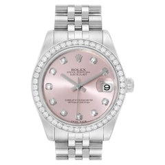 Rolex Datejust Midsize 31 Steel White Gold Diamond Ladies Watch 178384
