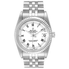 Rolex Datejust Midsize 31 Steel White Gold Ladies Watch 68274