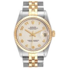 Rolex Datejust Midsize 31 Steel Yellow Gold Ladies Watch 68273