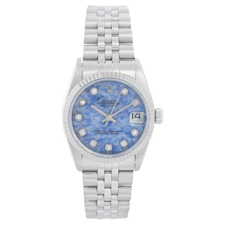 Rolex Datejust Midsize Men's or Ladies Steel Watch 68274 For Sale