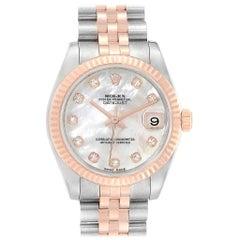 Rolex Datejust Midsize Steel Gold Mother of Pearl Diamond Ladies Watch 178271