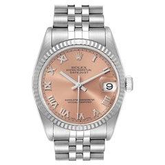 Rolex Datejust Midsize Steel White Gold Salmon Dial Ladies Watch 78274
