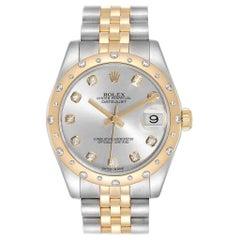 Rolex Datejust Midsize Steel Yellow Gold Diamond Ladies Watch 178343