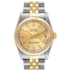 Rolex Datejust Midsize Steel Yellow Gold Ladies Watch 68273 Box