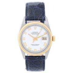 Rolex Yellow Gold Stainless Steel Datejust Wristwatch Ref 16203