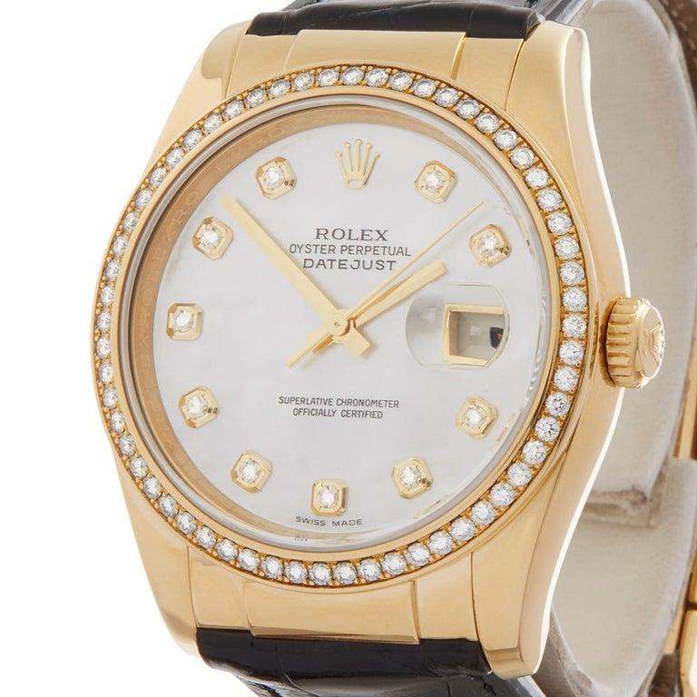Rolex Datejust Mother-of-Pearl Diamonds Unisex 116188 Watch In New Condition In Bishop's Stortford, Hertfordshire