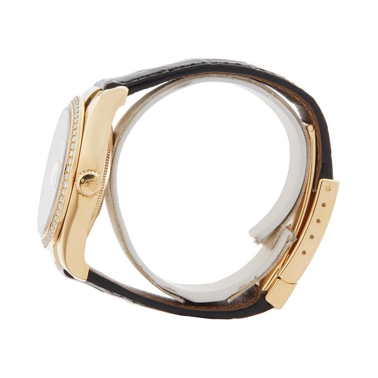 Women's or Men's Rolex Datejust Mother-of-Pearl Diamonds Unisex 116188 Watch