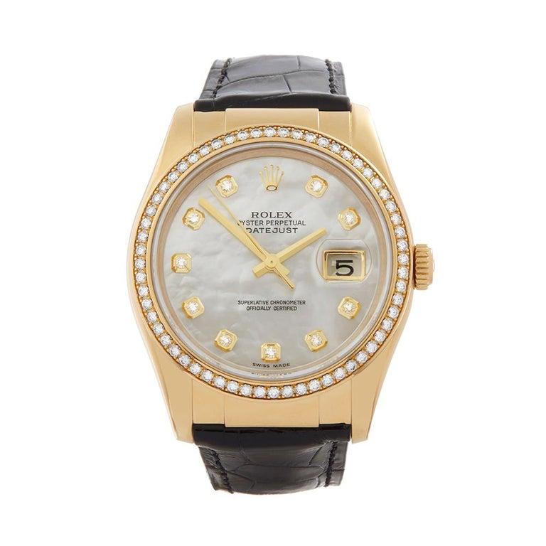 Rolex Datejust Mother-of-Pearl Diamonds Unisex 116188 Watch