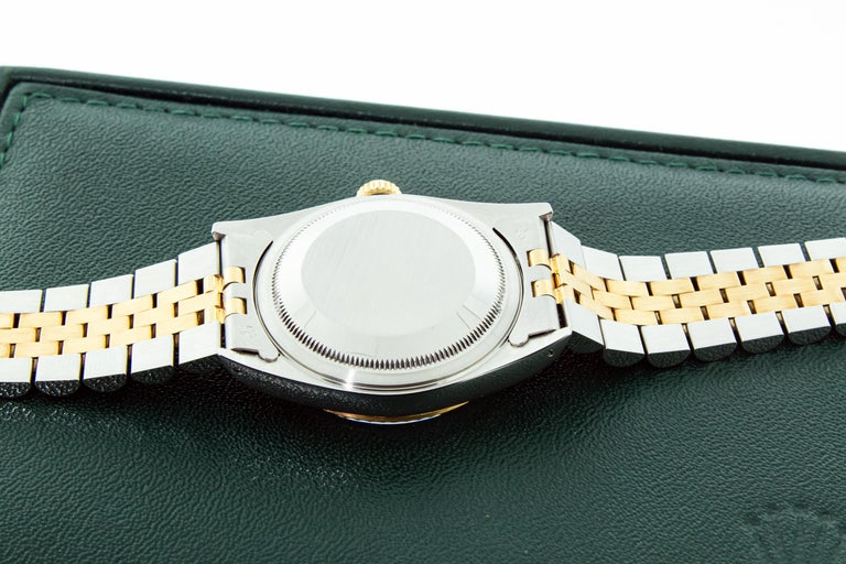Rolex DateJust Original Champagne Diamond Box Booklets YG/SS For Sale 6