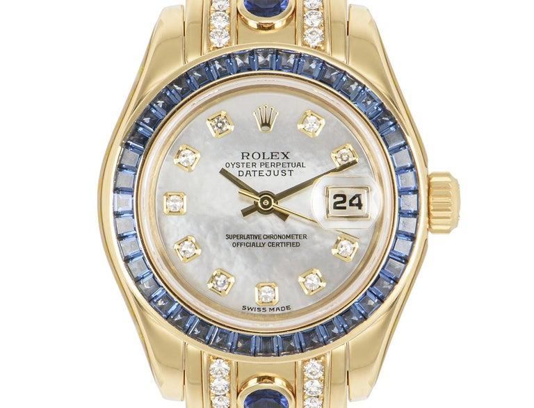 Rolex Datejust Pearlmaster Diamond & Sapphire 80308SA For Sale 1
