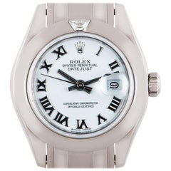 Rolex Datejust Pearlmaster Ladies White Gold White Dial Diamond 80329