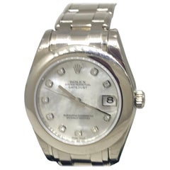 Rolex Datejust Pearlmaster White Gold Diamond Dial Automatic Ladies Watch 81209