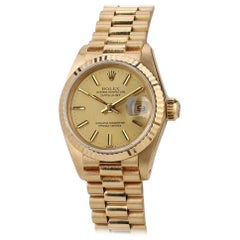 Rolex Datejust Pre Owned 18K Yellow Gold Ladies Watch Ref 6917